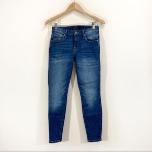 Guess High Rise Skinny Jeans Blue Sz 27